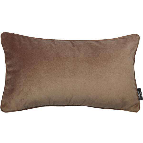 McAlister Textiles Matt Mocha Brown Velvet Cushion Cushions and Covers Cover Only 50cm x 30cm