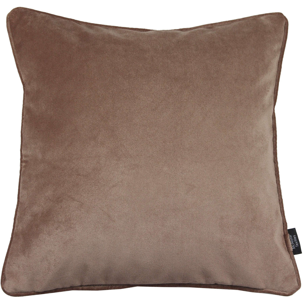 McAlister Textiles Matt Mocha Brown Velvet Cushion Cushions and Covers Cover Only 43cm x 43cm