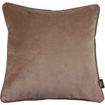 Load image into Gallery viewer, McAlister Textiles Matt Mocha Brown Velvet Cushion Cushions and Covers Cover Only 43cm x 43cm