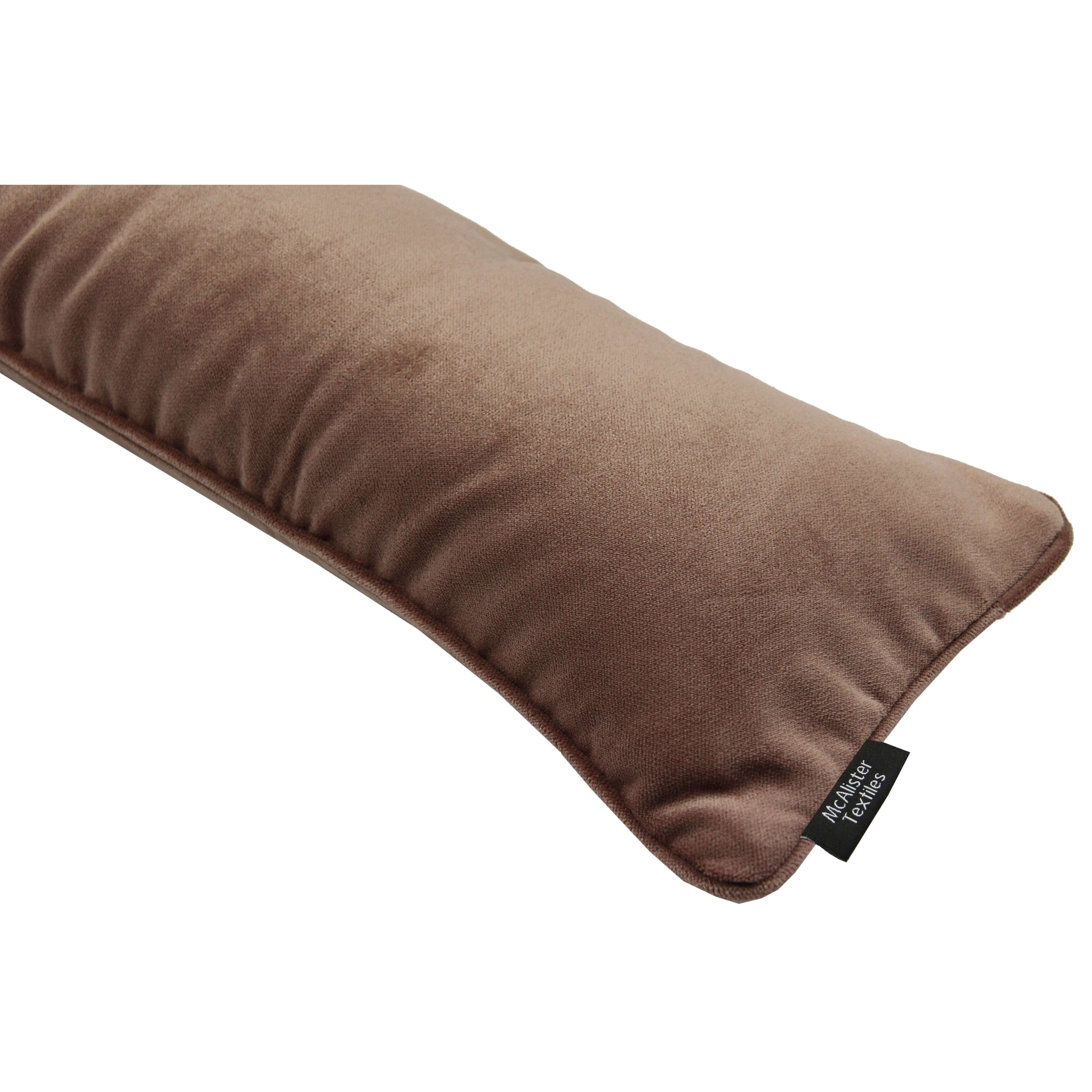 McAlister Textiles Matt Mocha Brown Velvet Draught Excluder Draught Excluders