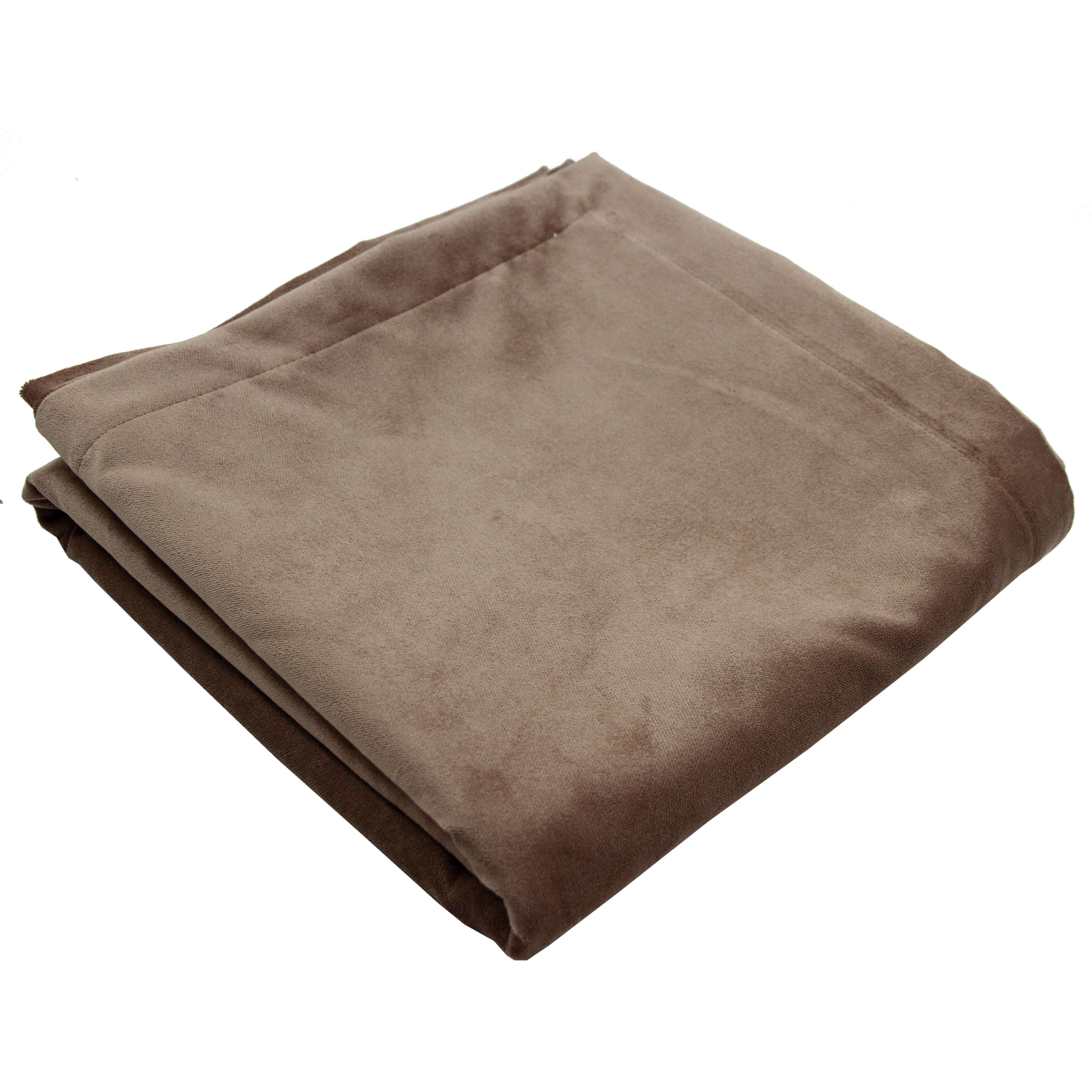 McAlister Textiles Matt Mocha Brown Velvet Throw Blanket Throws and Runners Bed Runner (50cm x 240cm)