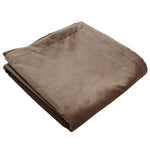 Carica l'immagine nel visualizzatore di Gallery, McAlister Textiles Matt Mocha Brown Velvet Throw Blanket Throws and Runners Bed Runner (50cm x 240cm)