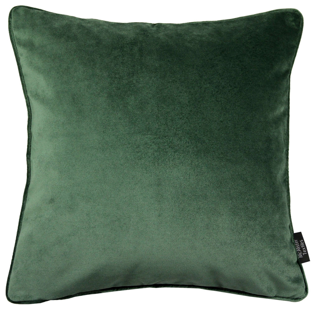 McAlister Textiles Matt Moss Green Velvet Cushion Cushions and Covers Cover Only 43cm x 43cm