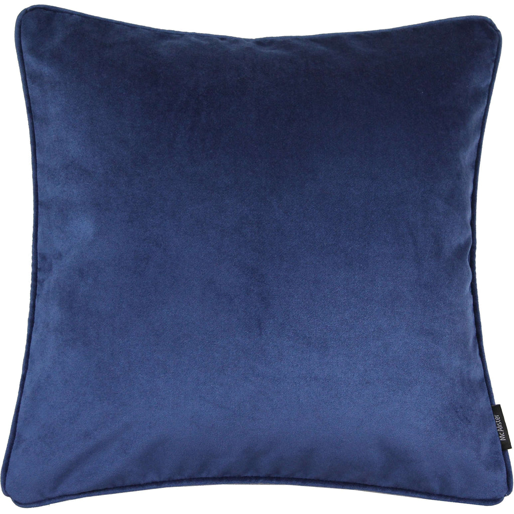 McAlister Textiles Matt Navy Blue Velvet Cushion Cushions and Covers Cover Only 43cm x 43cm