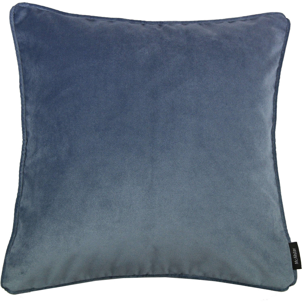 McAlister Textiles Matt Petrol Blue Velvet Cushion Cushions and Covers Cover Only 43cm x 43cm