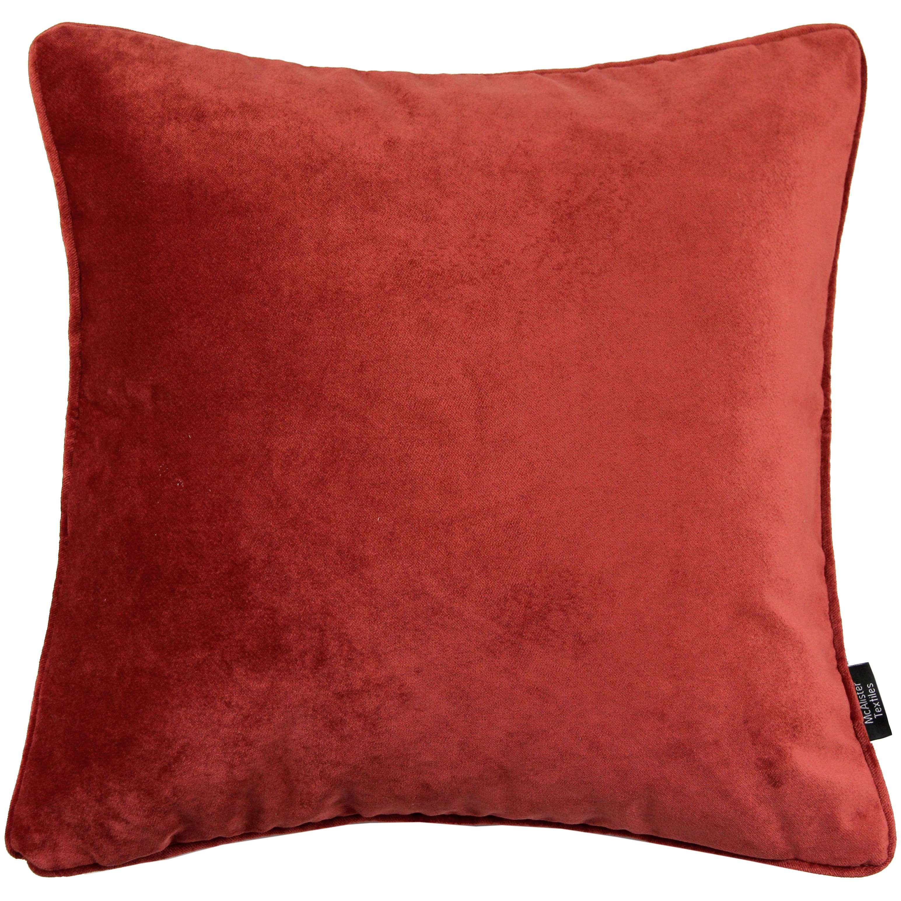 McAlister Textiles Matt Rust Red Orange Velvet Cushion Cushions and Covers Cover Only 43cm x 43cm