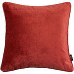 Load image into Gallery viewer, McAlister Textiles Matt Rust Red Orange Velvet Cushion Cushions and Covers Cover Only 43cm x 43cm