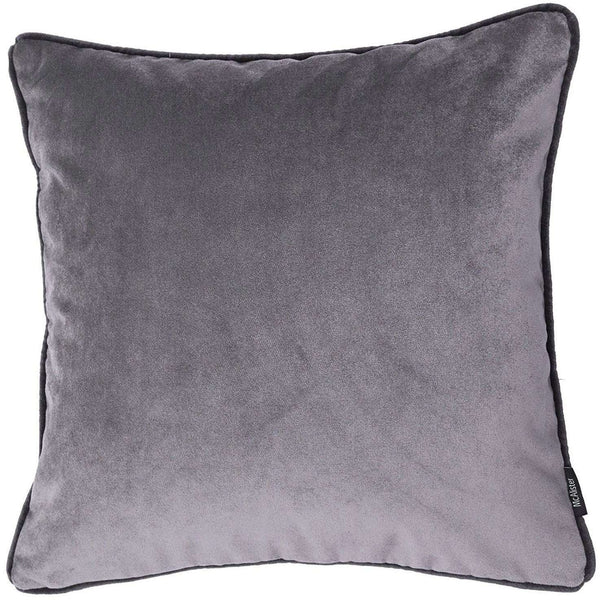 McAlister Textiles Matt Soft Silver Velvet Cushion Cushions and Covers Cover Only 43cm x 43cm