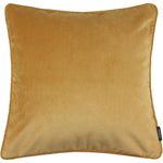 Load image into Gallery viewer, McAlister Textiles Matt Ochre Yellow Velvet Cushion Cushions and Covers Cover Only 43cm x 43cm