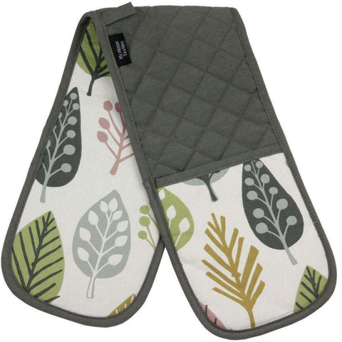Mcalister Textiles Magda Geometric Blush Pink Oven Glove Mitt Pairs Kitchen Accessories