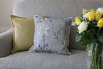 Cargar imagen en el visor de la galería, McAlister Textiles Meadow Soft Grey Floral Cotton Print Cushions Cushions and Covers