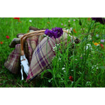 Load image into Gallery viewer, McAlister Textiles Angus Purple + Green Tartan Throw Throws and Runners