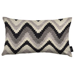Load image into Gallery viewer, McAlister Textiles Navajo Black + Grey Striped Pillow Pillow Cover Only 50cm x 30cm