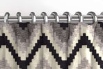 Load image into Gallery viewer, McAlister Textiles Navajo Black + Grey Striped Curtains Tailored Curtains