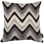Load image into Gallery viewer, McAlister Textiles Navajo Black + Grey Striped Pillow Pillow Cover Only 43cm x 43cm