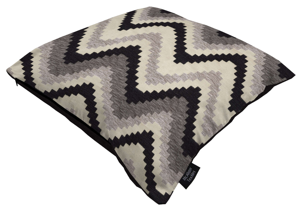 McAlister Textiles Navajo Black + Grey Striped Pillow Pillow