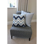 Load image into Gallery viewer, McAlister Textiles Colorado Geometric Navy Blue Cushion Cushions and Covers