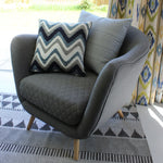 Carica l'immagine nel visualizzatore di Gallery, McAlister Textiles Navajo Navy Blue Striped Cushion Cushions and Covers