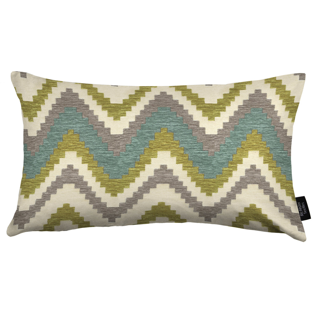 McAlister Textiles Navajo Blue + Lime Green Striped Pillow Pillow Cover Only 50cm x 30cm
