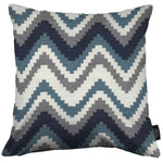 Load image into Gallery viewer, McAlister Textiles Navajo Navy Blue Striped Pillow Pillow Cover Only 43cm x 43cm