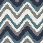 Charger l'image dans la galerie, McAlister Textiles Navajo Navy Blue Striped Curtains Tailored Curtains
