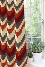 Carica l'immagine nel visualizzatore di Gallery, McAlister Textiles Navajo Red + Burnt Orange Striped Curtains Tailored Curtains