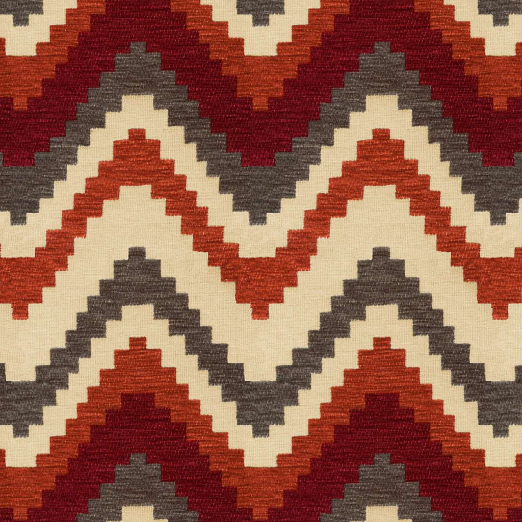 McAlister Textiles Navajo Red + Burnt Orange Striped Fabric Fabrics 1 Metre