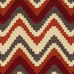 Load image into Gallery viewer, McAlister Textiles Navajo Red + Burnt Orange Striped Fabric Fabrics