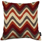 Load image into Gallery viewer, McAlister Textiles Navajo Red + Burnt Orange Striped Cushion Cushions and Covers Cover Only 43cm x 43cm
