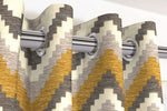 Load image into Gallery viewer, McAlister Textiles Navajo Yellow + Grey Striped Curtains Tailored Curtains
