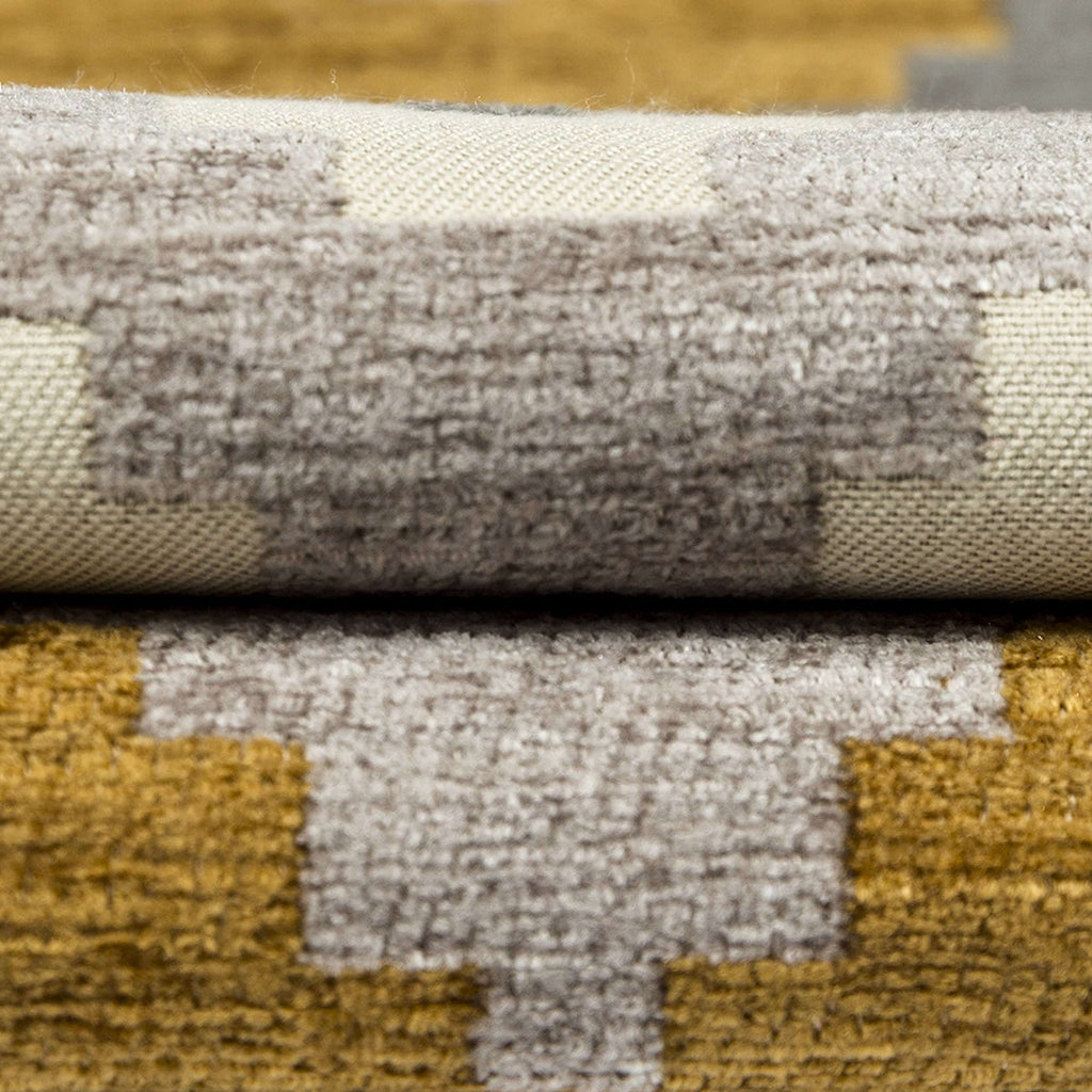 McAlister Textiles Navajo Yellow + Grey Striped Roman Blind Roman Blinds