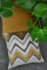 Carica l'immagine nel visualizzatore di Gallery, McAlister Textiles Navajo Yellow + Grey Striped Cushion Cushions and Covers