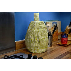 McAlister Textiles Colorado Funky Tablet Stand Bean Bag - Ochre Yellow-Mini Bean Bag-