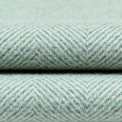 McAlister Textiles Herringbone Boutique Wool Feel Duck Egg Blue & Grey Cushion-Cushions and Covers-
