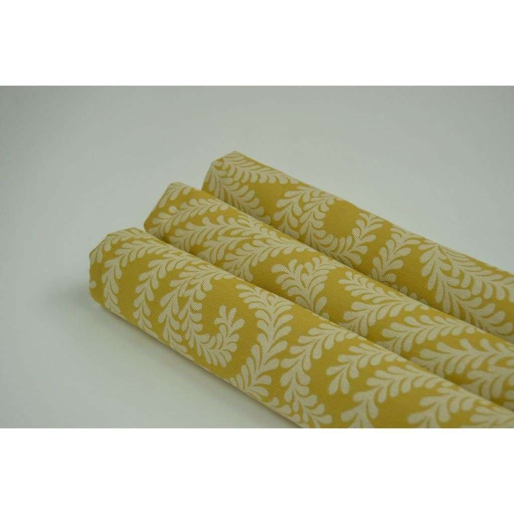 McAlister Textiles Little Leaf Ochre Yellow Roman Blind Roman Blinds