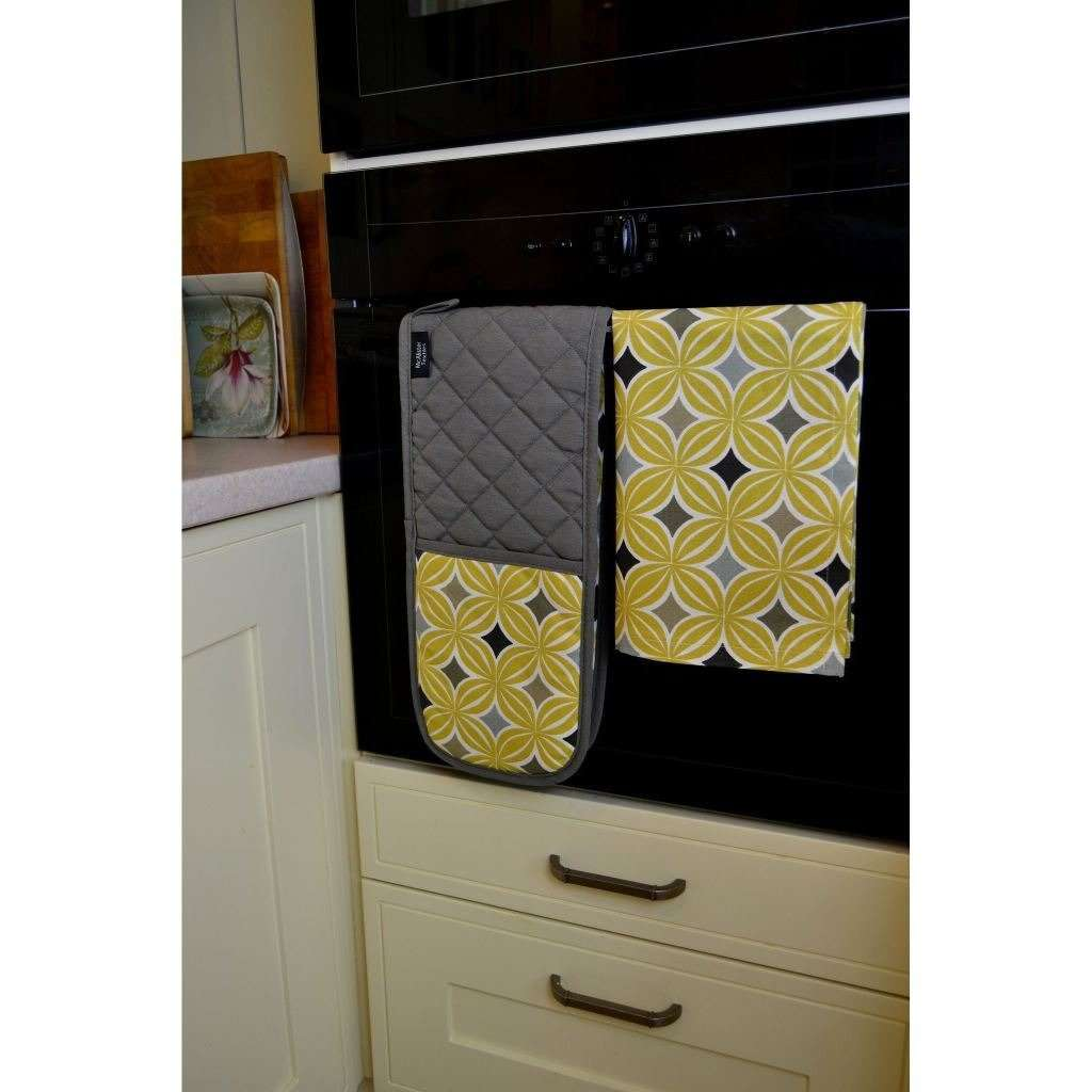 McAlister Textiles Laila Yellow Cotton Tea Towel Set Kitchen Accessories