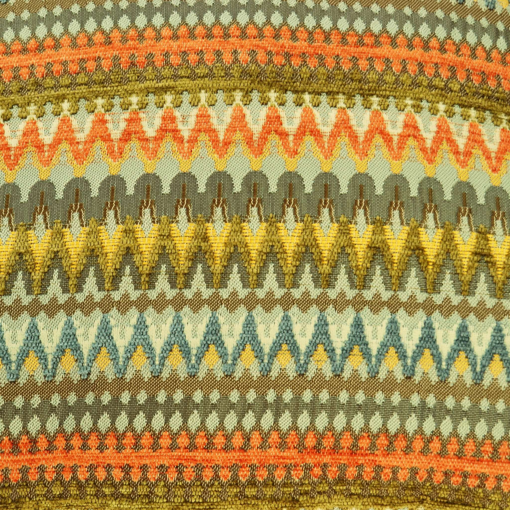 McAlister Textiles Curitiba Aztec Orange + Teal Throw Throws and Runners