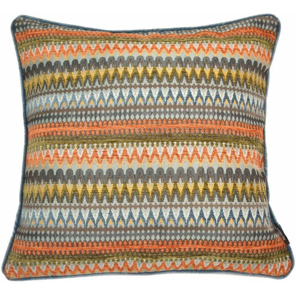 McAlister Textiles Curitiba Aztec Aztec Orange + Teal Cushion Cushions and Covers Cover Only 43cm x 43cm