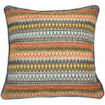 Load image into Gallery viewer, McAlister Textiles Curitiba Aztec Orange + Teal Pillow Pillow Cover Only 43cm x 43cm