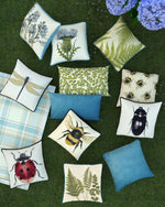 Load image into Gallery viewer, McAlister Textiles Tapestry Bluebell Floral Cushion Cushions and Covers