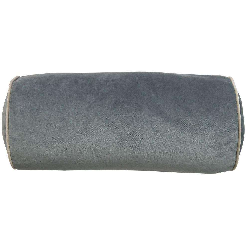 McAlister Textiles Deluxe Velvet Charcoal Grey Bolster Pillow Bolster Cushion