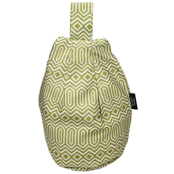 McAlister Textiles Colorado Geometric Mustard Yellow Bean Bag Stand Mini Bean Bag