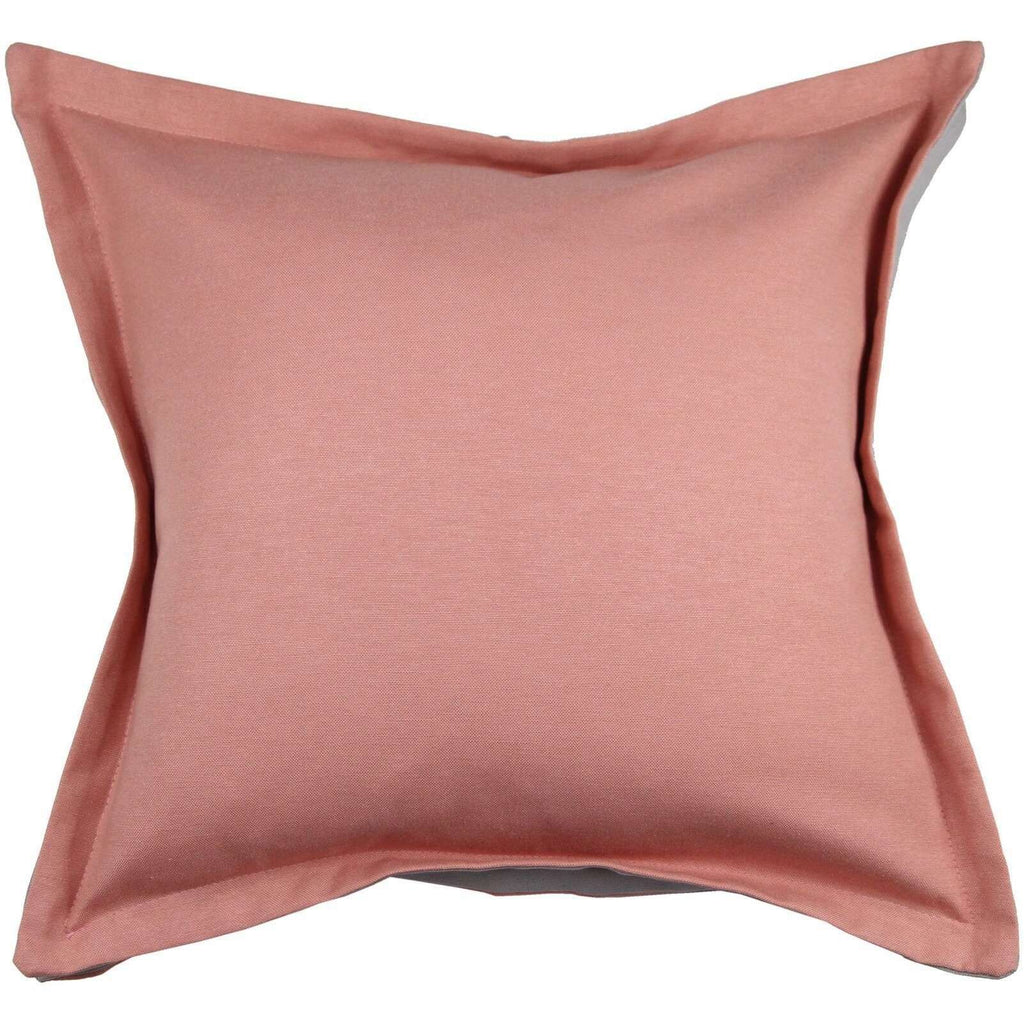 McAlister Textiles Panama Accent Blush Pink + Grey Cushion Cushions and Covers Cover Only 43cm x 43cm