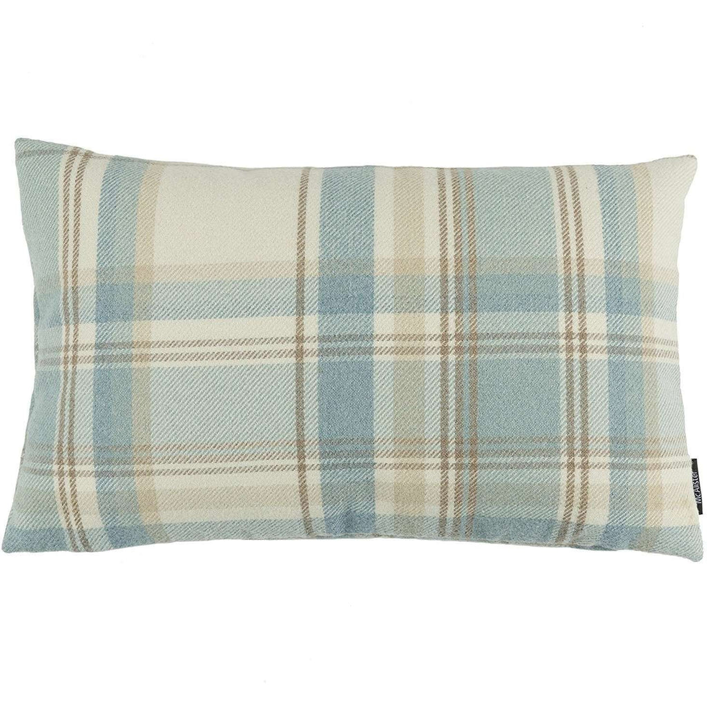 McAlister Textiles Heritage Duck Egg Blue Tartan Pillow Pillow Cover Only 50cm x 30cm
