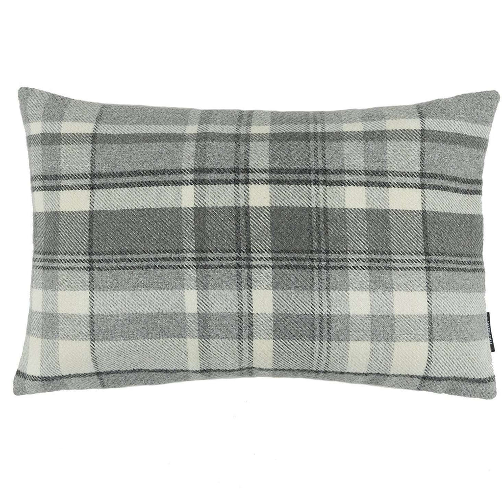 McAlister Textiles Heritage Charcoal Grey Tartan Pillow Pillow Cover Only 50cm x 30cm