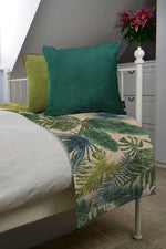 Load image into Gallery viewer, McAlister Textiles Palm Leaf Velvet Print Throw Blankets & Runners Throws and Runners
