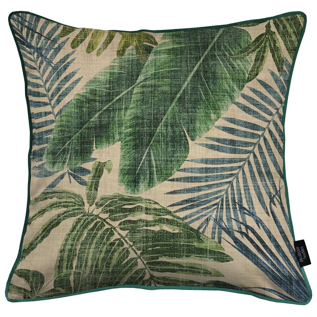 McAlister Textiles Palm Leaf Velvet Print Cushion Cushions and Covers Cover Only 43cm x 43cm