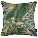Load image into Gallery viewer, McAlister Textiles Palm Leaf Velvet Print Cushion Cushions and Covers Cover Only 43cm x 43cm
