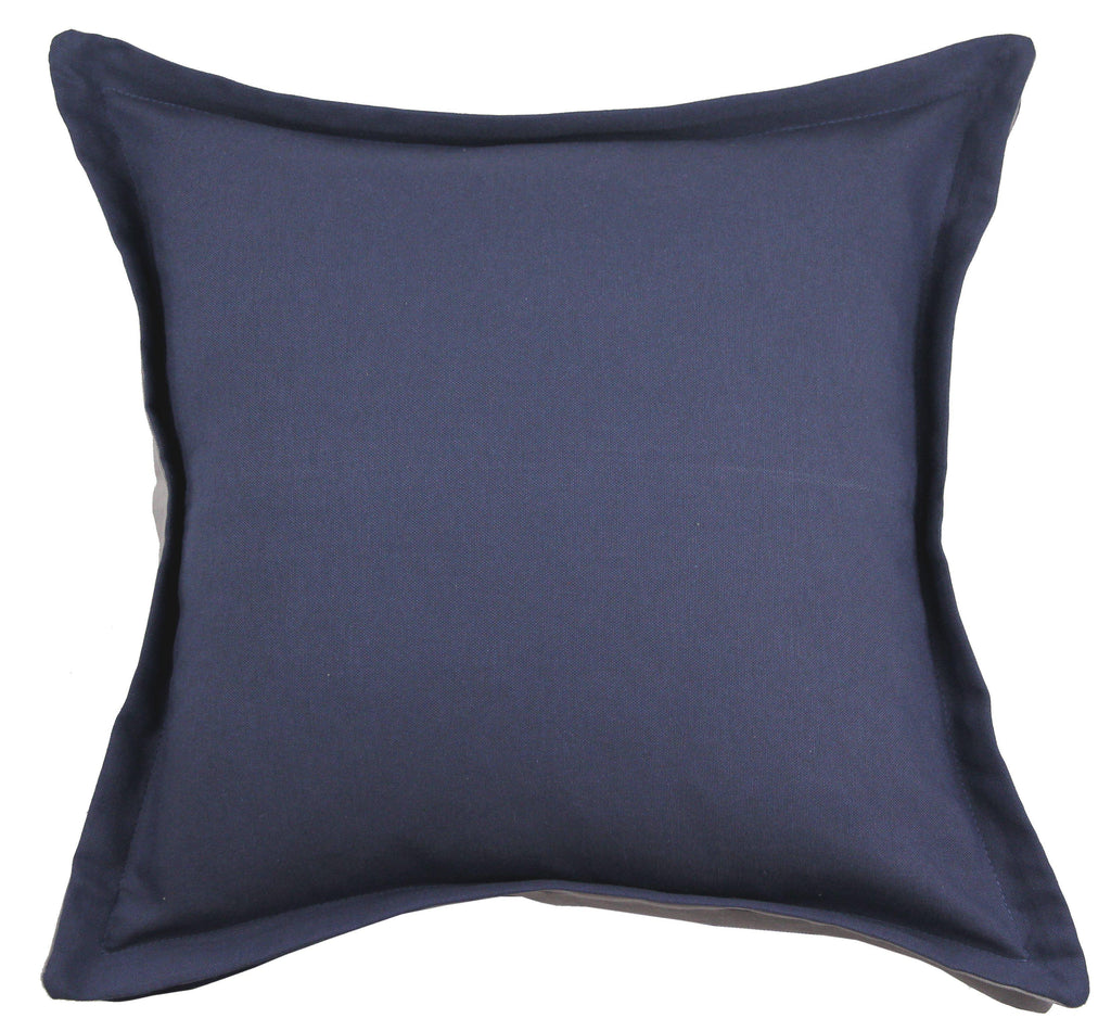 McAlister Textiles Panama Accent Navy Blue + Grey Cushion Cushions and Covers Cover Only 43cm x 43cm