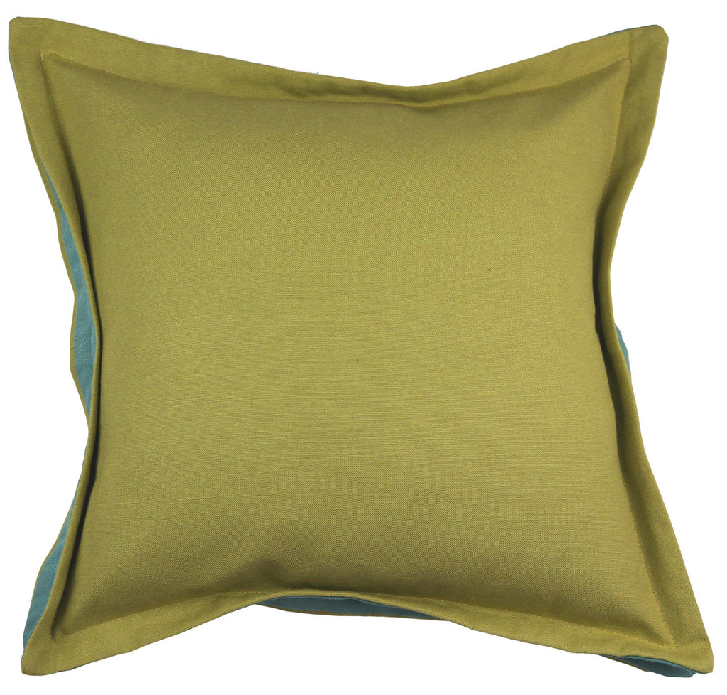 McAlister Textiles Panama Accent Lime Green + Teal Cushion Cushions and Covers Cover Only 43cm x 43cm
